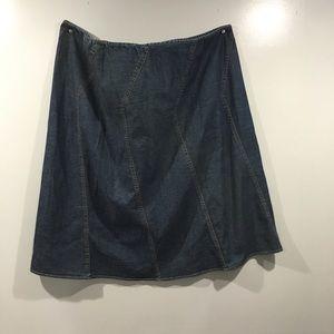 Womens denim skirt size 24W